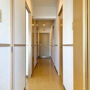 開けると奥行きのある廊下へ。