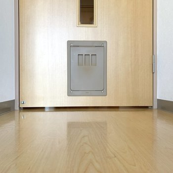 扉にはペット用のドアも付いています。