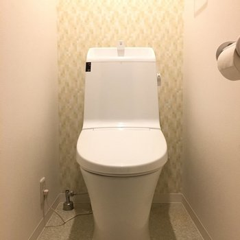 トイレの壁もこだわってます。