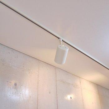 可動式のダウンライト。※写真は9階部分の別室です。
