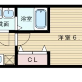 ひとり暮らしに!※募集中の実際の間取りです。※写真と文章は10階同間取り別部屋のものです。細部は異なることがあります。