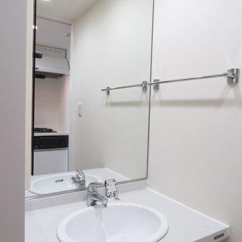 大きな大きな鏡です。※写真は10階同間取り・別部屋のものです。