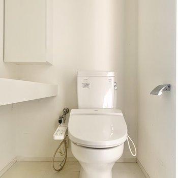 トイレも脱衣所にまとまっています
