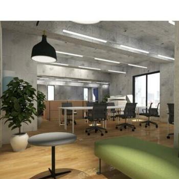4階の執務スペース。シンプルかつオシャレに、、 ※画像はイメージです