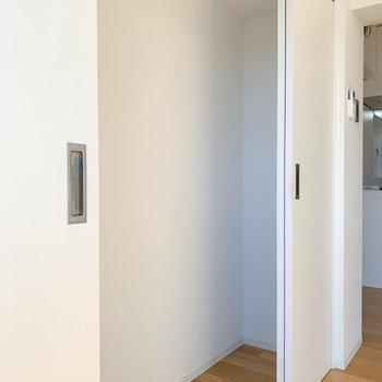 こちらはリビングの収納。掃除機などの生活家電を仕舞うスペースにも良いですね。