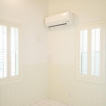 窓はぱたっと閉じれますし、※写真は1階同間取り・別部屋のものです。