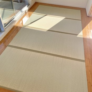 畳は新品。フローリングの間にはめ込まれています。