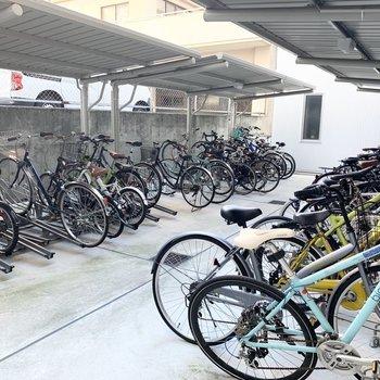 駐輪場もたっぷりスペースが取られています。