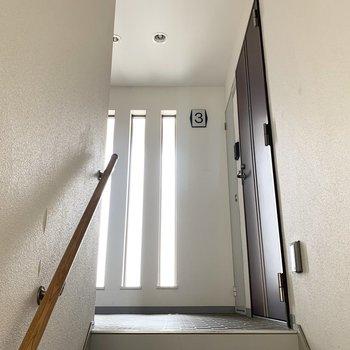 共用部は階段タイプ。