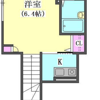 洋室は使いやすい形です。
