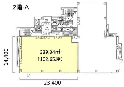 渋谷 102坪 オフィス の間取り