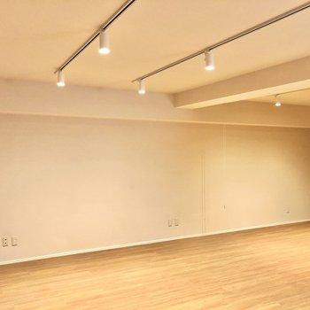 天井のスポットライトがお部屋をステキに演出してくれます。