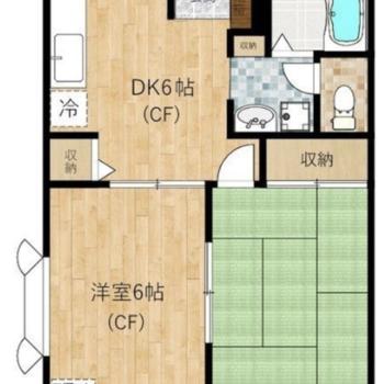 和室のある2DKタイプで2人でも住めますね。