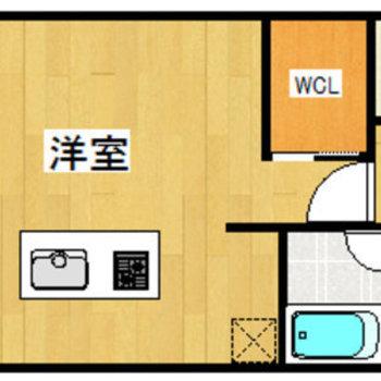 広めのワンルームです。
