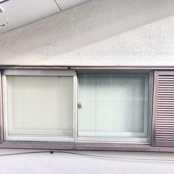 2階の窓から見た眺望