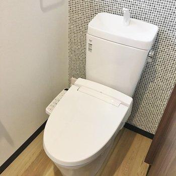 トイレのクロスもかわいい~♪