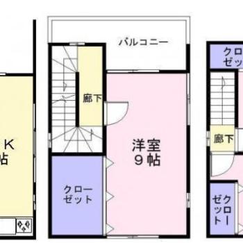戸建てのお部屋です。