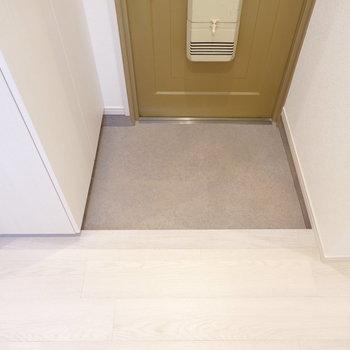玄関は狭すぎず、広すぎずの適正サイズ。