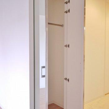 収納スペース。ちょっと小さめです。※写真は別部屋
