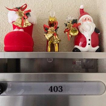 共用部に散りばめられたクリスマスのオブジェにほっこり…