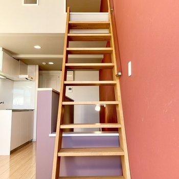 この階段を上ると…?
