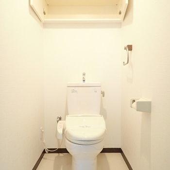 トイレもゆったり。上にはペーパー置けます