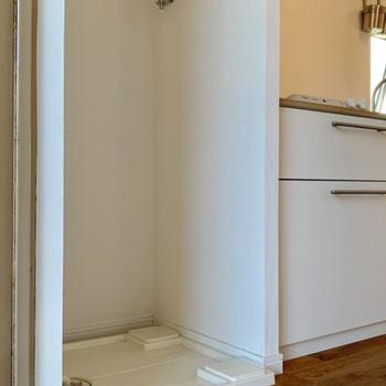 洗濯機はキッチン横になります!※写真は4階同間取りのもの使用