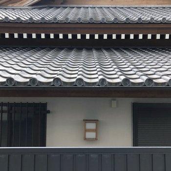 眺望はお寺です。※写真は1階の同一タイプのお部屋のもの