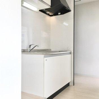 横には冷蔵庫スペースもちゃんとありますよ。