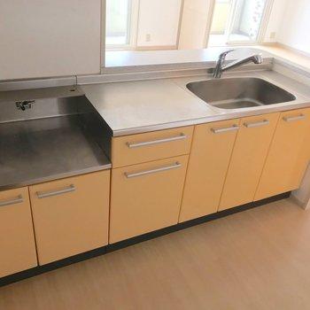 シンクも調理スペースも広くて使いやすそうですね。