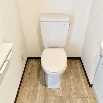 トイレはシンプルです。脱衣所にあります。