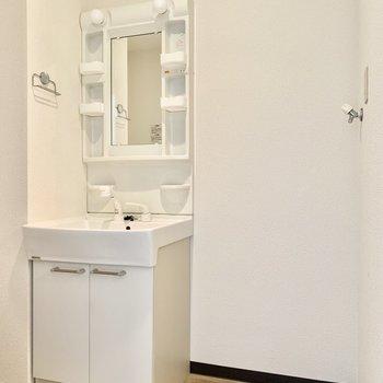 独立洗面台。右隣に洗濯機置けます◎