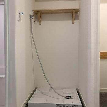 脱衣所です。※写真は工事中のものです。