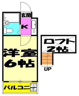 OYO LIFE #4412 ジュネパレス新検見川第01 の間取り