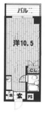 OYO LIFE #4155 横浜三吉町第4レッツビル の間取り