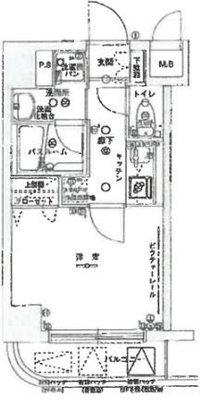 OYO LIFE #4399 グリフィン新横浜・七番館 の間取り