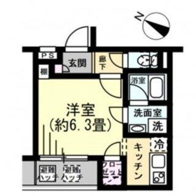 プレール・ドゥーク北新宿II(1117) の間取り