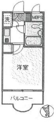 OYO LIFE #3604 プチシャンプル西横浜 の間取り
