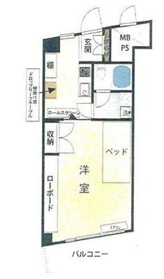 OYO LIFE #329 新宿パークサイド永谷 の間取り