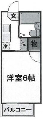 OYO LIFE #3688 ラレーブ津田沼Ⅱ の間取り
