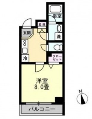 OYO LIFE #1163 プレール・ドゥーク高円寺Ⅱ の間取り