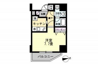 OYO LIFE #1220 リヴシティ上野入谷グロース の間取り
