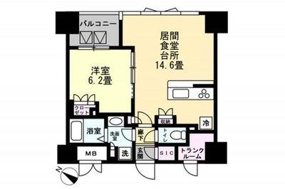 OYO LIFE #1420 ロイジェント東神田 の間取り
