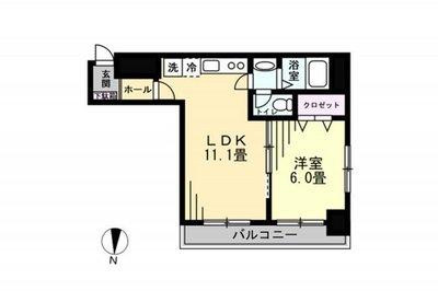 OYO LIFE #1053 東武ハイライン大門 の間取り