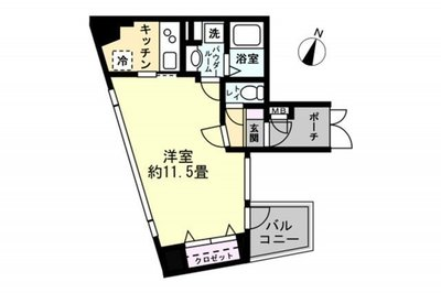 OYO LIFE #1302 メイクスデザイン渋谷神泉 の間取り