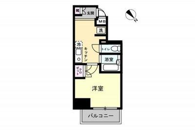 OYO LIFE #1252 メインステージ神田岩本町Ⅱ の間取り