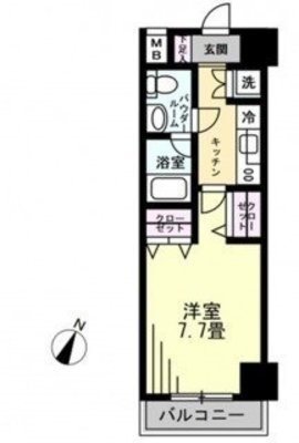 OYO LIFE #1461 パレステュディオ渋谷本町 の間取り