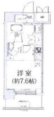 OYO LIFE YHA022 クラリッサ横浜アレッタ の間取り