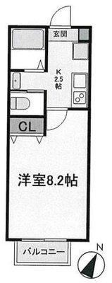 OYO LIFE #1717 キャメル松戸5B の間取り