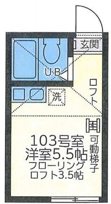 OYO LIFE YHA026 ユナイト鶴見ロベルト・バッチオ の間取り
